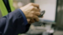 Electronic Recycling Plant - Cell Phone Testing 3 Stock Footage