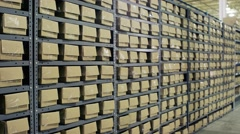 Electronic Recycling Plant - Sorted Boxes 2 Stock Footage