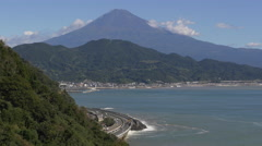 Mount Fuji and the Tomei Expressway in Shizuoka Prefecture Stock Footage