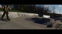 Skateboard Park Slow Motion Stock Footage