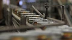 Aluminium  Cans Machine Various Views Stock Footage