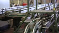 Aluminium  Cans Machine Close Up Stock Footage
