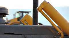 Construction vehicle detail Stock Footage