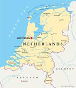 Netherlands Political Map Piirros