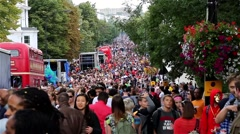 Notting Hill Carnival - Crowd Stock Footage
