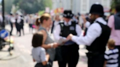 UK Police Helping Citizen Stock Footage