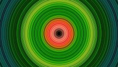 Rotating Concentric Circles Target - stock footage
