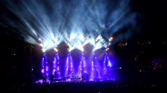 Music Concert   - stage - long shot - Beautiful Lighting. Stock Footage