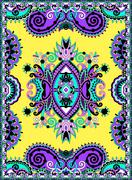 Stock Illustration of Ukrainian Oriental Floral Ornamental Carpet Design