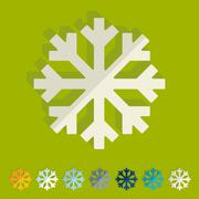 Flat design: snowflake Stock Illustration