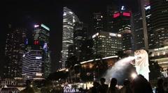 Singapore Skyline Stock Footage