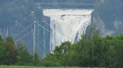 Montmorency water falls in Quebec 1224 Stock Footage