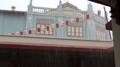 Lampions in Rain Stock Footage