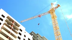 Construction work site Stock Footage