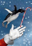 Stock Illustration of christmas penguin
