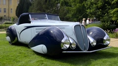 Delahaye 135 M Torpedo Cabriolet by Figoni & Falaschi Stock Footage