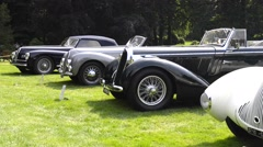 Classic car show Stock Footage