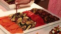 Buffet with Antipasti Stock Footage