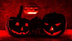 Halloween pumpkin, scary shape Stock Footage