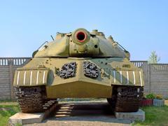 military tank is-3(iosif stalin) taken closeup. - stock photo