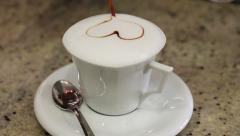 0458 Capuccino heart Stock Footage