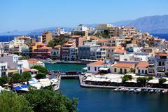 Stock Photo of agios nikolaos city, crete, greece
