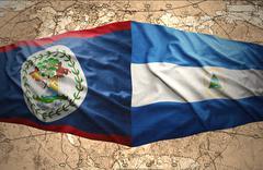 Nicaragua and belize Stock Illustration
