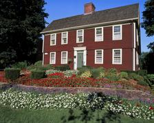 connecticut colonial home - stock photo