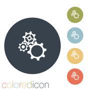 symbol settings. cogwheel - stock illustration
