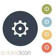 Stock Illustration of symbol settings. cogwheel