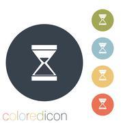 hourglass waiting - stock illustration