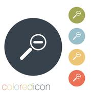 magnifier reduction - stock illustration