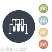 bulb or beaker. - stock illustration