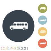 School bus. symbol study. icon transport Piirros
