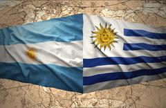 Uruguay and argentina Stock Illustration