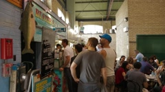 People Lining Up to Order Food at St. Lawrence Market Stock Footage