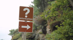 Roadside Information sign. Stock Footage