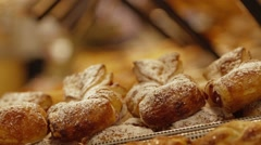 Baked Goods and Pastries Stock Footage