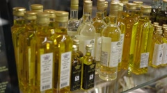 Bottles of Olive Oil - stock footage