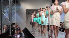 2013 phoenix fashion week runway shows - stock footage