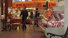 Brown Brothers Meats Kiosk - stock footage