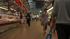 Interior of St. Lawrence Market Stock Footage
