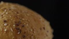 Multigrain Kaiser Roll Side Shot Stock Footage