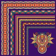 Collection of ornamental floral vintage frame design. All compon Stock Illustration