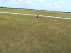Landing after skydive jump - stock footage