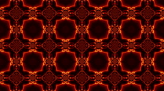 Kaleidoscope. Transformation of brightly colored shapes on a black background. Stock Footage