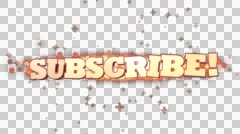Subscribe 3D red text animation for video blog - stock footage