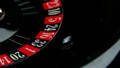 Stock Video Footage of black roulette
