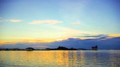Timelapse of sunset sky at Koh Loi, Sriracha, Choburi, Thailand Stock Footage