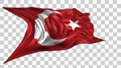 Flag of Ottoman Empire Stock Footage